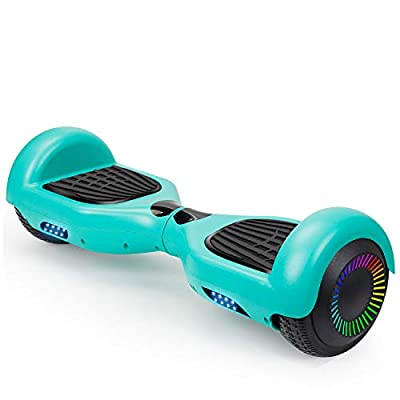 TST Adorable Hoverboard Certified Two-Wheel Self Balancing Electric Scooter 2019 Cool Toys for Adults and Kids (Carbon Fiber Grey)
