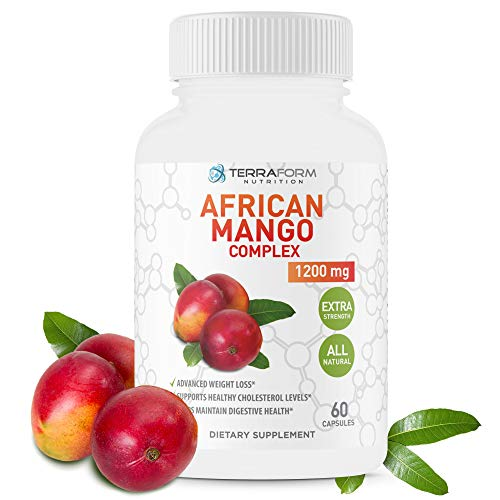 African Mango Diet Pills – Advanced Weight Loss Supplement, Natural Way to Support Fat Burn – 1200mg of Pure African Mango Complex – Made in USA – 1 Month