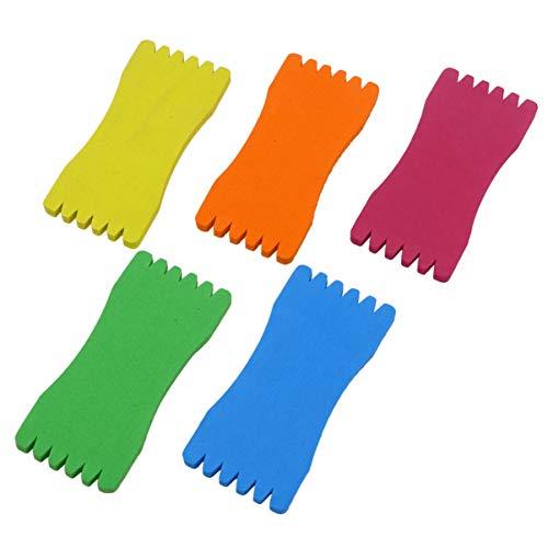 VOSAREA 20 Stück Angelwickelplatte Platte Schaumstoffplatte Umwickelt Drahtführer Angelgerät Spurhalter Wickelpackung Größe 2 (Zufällige Farbe)