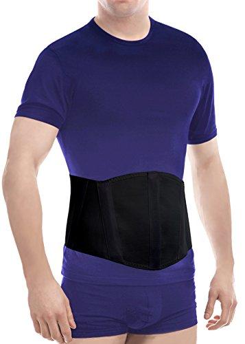 Cinturón ergonómico de hernia umbilical (nuevo modelo); faja de sujeción abdominal Small Negro