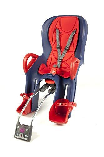 OK Baby Kinder 10+ Hinterrad-fahrradsitz, blau-Rot, 22kg