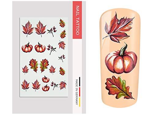 NailArt Tattoo Herbst II - NAIL ART Nagel Kunst Naildesign