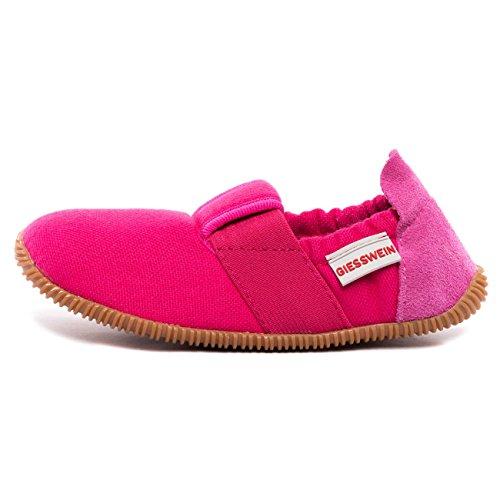 GIESSWEIN Unisex Kinder Sßll - Slim Fit Flache Hausschuhe, Pink Purpur 365, 26 EU