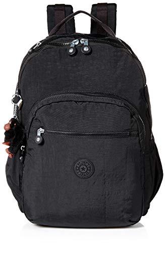 Kipling Women's Seoul Go XL Backpack, Padded, Adustable Backpack Straps, Zip Closure, Black Tonal