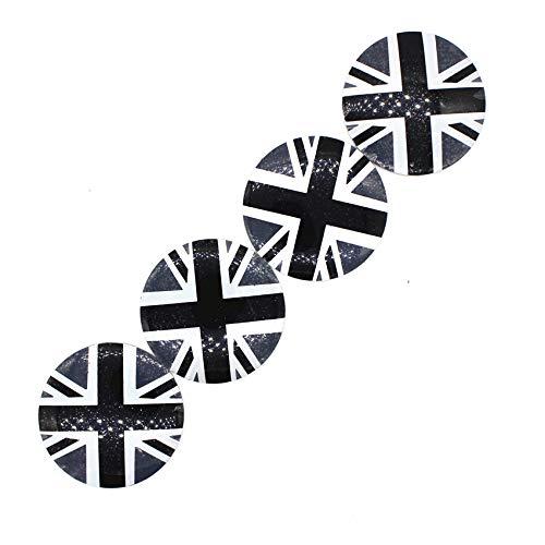 Para el nuevo 4pcs, el centro de la rueda del automóvil, la cubierta de las tapas de las tapas de la bandera de la bandera del arroz de RIM Inglaterra, el estilo de la insignia para Mini Cooper R50 R5