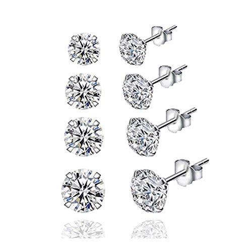 SODIAL Pendientes de Circonita de Diamantes de ImitacióN de Moda Coreana Pendientes Elegantes de Temperamento Todo FóSforo Joyas de Oreja Femenina