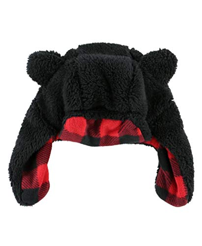 LazyOne Critter Cap Hat for Kids, Fun, Cold-Weather, Animal Hats, Cute, Warm, Winter, Cozy, Ear covers, Costume (Bear, MEDIUM)