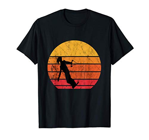 Wakeboard Retro Sunset Vintage Sonnenuntergang Wakeboarder T-Shirt