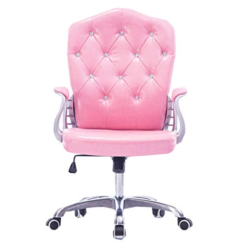 High Back Computer Task Chairs, Comfortable Chairs 360 Degree Swivel,Durable and Stable, Height Adjustable, Pink