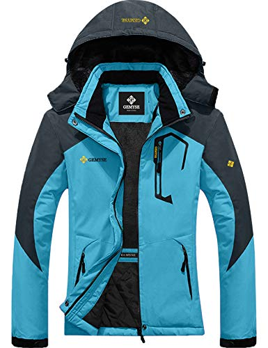Womens Mountain Snow Rain Waterproof Acid Blue Ski Jacket
