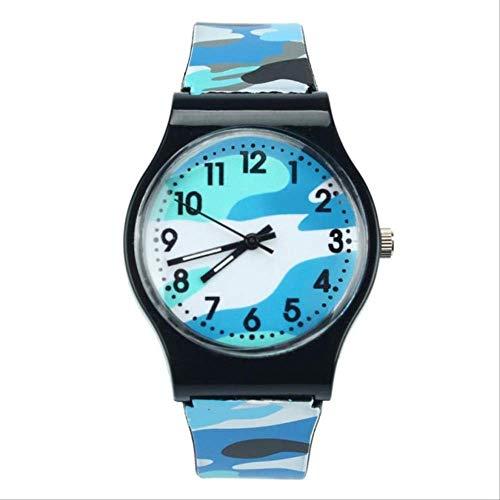 Moda Niños Relojes Camuflaje Estilo Niño Niñas Reloj De Cuarzo Analógico Led Reloj Deportivo De Goma Niños Relogio Masculino A