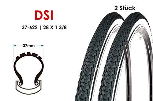2 Stück 28 Zoll Fahrrad Reifen 37-622 Trekking City Bike Mantel 28×1 3/8 Weisswand Tire B-Ware
