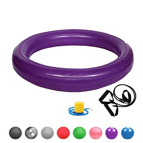 Glamexx24 Weich Gymnastikring Dick Anti-Burst für Sitzball Peziball Swissball Fitnessball Ballpumpe, Ballschale, Widerstandsbändern