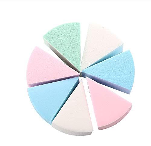 ZZDJ Esponja de Maquillaje 8 Unids Mujeres Señora Maquillaje Cosmético Puff Triángulo Ojos en Forma Labios Caramelos Ojos Labios Color Fundación Esponja Polvo Esponjas Faciales Almohadilla d
