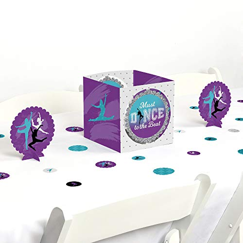 Big Dot of Happiness Must Dance to the Beat - Dance - Birthday Party or Dance Party Centerpiece and Table Decoration Kit