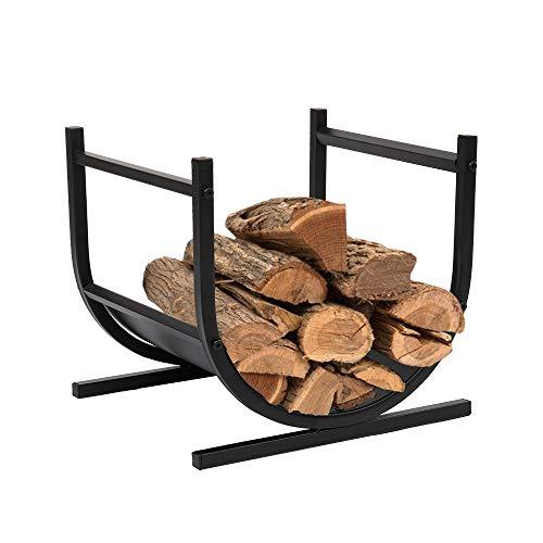 FRITHJILL U-Shaped Firewood Rack,Decorative Indoor/Outdoor Heavy Duty Wood Storage Log Rack Holder Stacker Stand