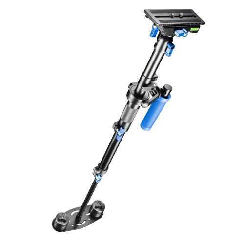 Walimex Pro StabyPod M Schwebestativ Steadycam zur Stabilisierung von DSLR-Kameras (Größe max. 80 cm, Schnellwechselplatte, Gegengewichte, Tasche)
