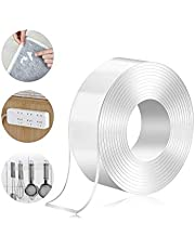 Torix 3 Meter Magic Improvement Double Sided Tape mounting Transparent Trace less Acrylic Reuse washable Waterproof Adhesive Tape 3m