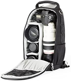 Think Tank Glass Taxi, Convertible Backpack / Shoulder Bag for Large Lenses with Camera Attached.