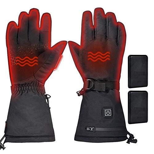 kaikki Elektrisch beheizte Handschuhe Skihandschuh Winter Warm Heizung Touchscreen für Radfahren Skifahren Motorradfahren Männer Frauen 5V 3000mAh