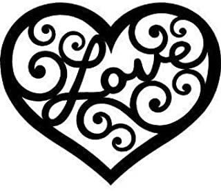 Lasaani Love in Heart ACP Wall Plaque Painted Cutout Stickable Home Decor Wall Art (Glossy Black)