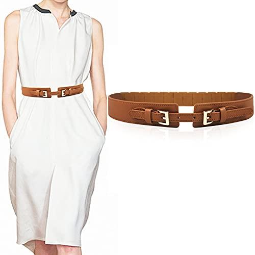 Shulltji Gürtel Damen Leder Elastischer Taillengürtel Damen Ledergürtel