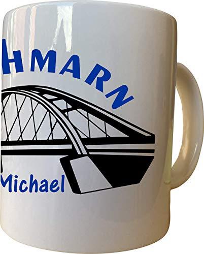 Tasse mit Druck Fehmarnsundbrücke Fehmarn Sublimation mit Wunschname Name