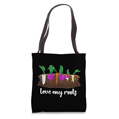 Love My Roots Veggies Farming Gardening Green Thumb Gift Tote Bag