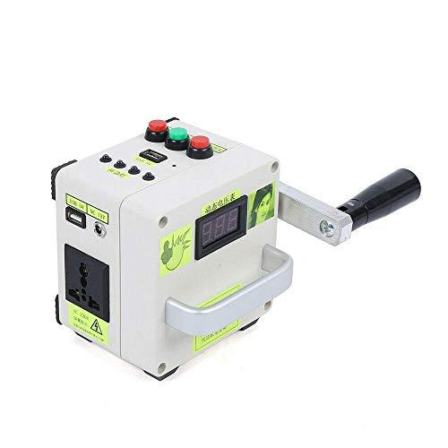 Tragbare Handkurbel Generator YUNRUX Manuelle Kurbel Generator Outdoor Multifunktions Stromerzeuger Notfall Überlebens Stromversorgung Ladegerät für Handy Computer Notaufladung mit USB Stecker 100 mA