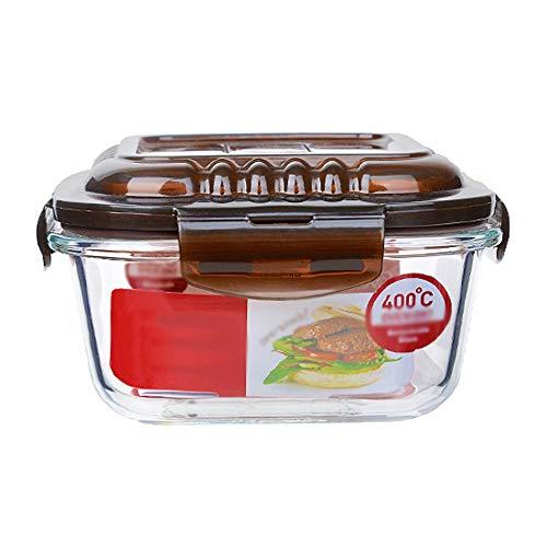 ChangDe SOHP Frischhaltung Box, Glas Salatschüssel Haushalt transparent große Dessert Obstschale Mikrowelle Instant-Nudeln Schüssel Kreativbox, Einzelverpackung Lebensmittel Lagerbehälter