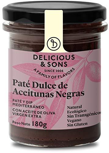 Delicious & Sons Paté Dulce de Aceitunas Negras Ecológico 180g