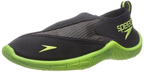 Speedo Unisex-child Water Shoe Surfwalker Pro 2.0,Black/Yellow,12 Kids US