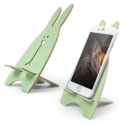 Preisvergleich Produktbild Urcover® Handy Halterung I Smartphone Ständer I Handy-Halter im Oster-Hasen Design I Halterung geeignet für iPhone 6,  7,  8,  X I Galaxy A3 A5 J5 J7 S6 S7 & S8 UVM. Grün