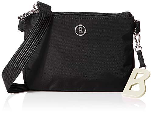 Bogner Damen Verbier Kata Shoulderbag Xshz Schultertasche, Schwarz (Black), 4.5x13x17 cm