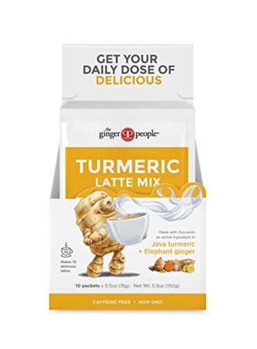 The Ginger People Turmeric Latte Mix, 10 Sachets, 5.3 Ounce