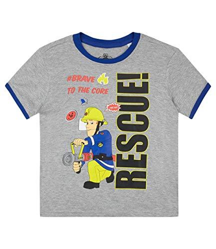 Sam el bombero Camiseta Manga Corta para Chicos Gris 104