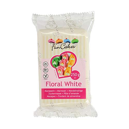 FunCakes mandelhaltige Zuckermasse Floral White, 1er Pack (1 x 250 g)
