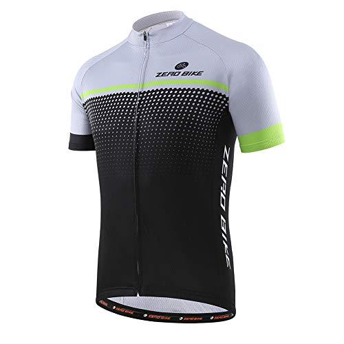 Uomo Abbigliamento da Ciclismo, Traspirante Leggero e Comodo Maglie da Ciclismo, Asciugatura Rapida Maglietta Corta
