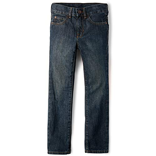 The Children's Place Boys' Straight Leg Jeans, Dry Indigo, 8