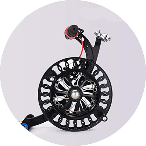 Accessori per aquiloni Kite Ruota Disc Freno A Disco Anti-Inverso Anti-Inversione in Lega di Kite Reul Bill-End Adult Adult Big Big Beay Wheel (Color : Black, Size : 26cm)