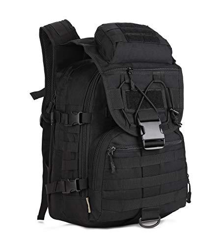Yakmoo Backpack von Multifunktionen Wasserdichter Rucksack Taktischer Militärstil Daypack Molle System Schultasche 40L für Outdoors