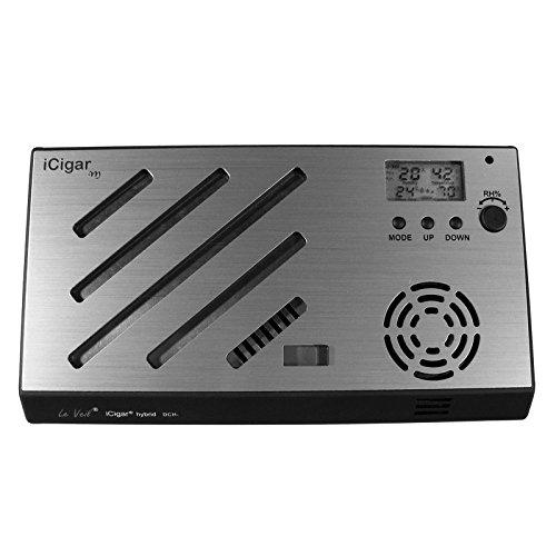 iCigar Hybrid Digital Cigar Humidifier System (Silver)