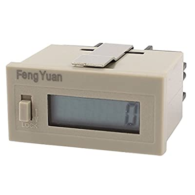 uxcell H7EC-BLM 0 - 999999 Counting Range No-voltage Required Digital Counter