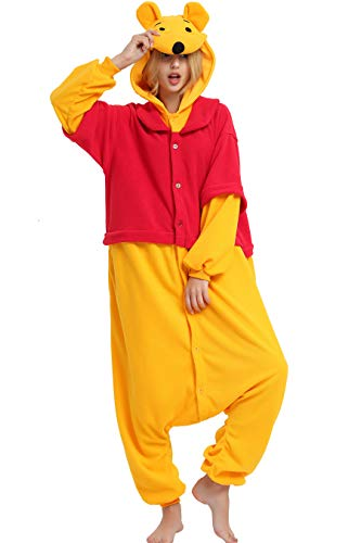 Winnie Onesie Adult. Winnie Costume Kigurumi Pajama for Women Men and Teens.L