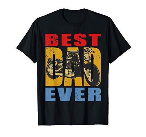 Hombre El mejor papá de moto de todos los tiempos: piloto de Camiseta