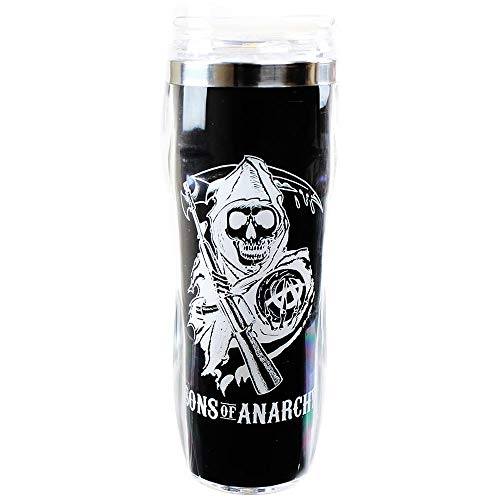 JUST FUNKY Sons Of Anarchy Reverse Logo Travel Mug