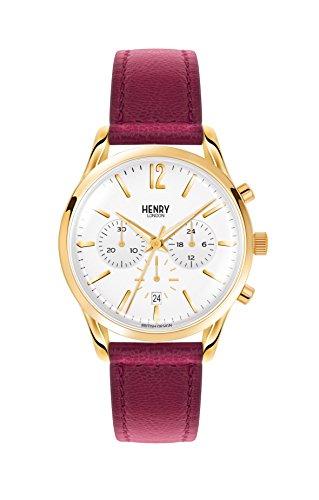 Henry London Reloj Cronógrafo para Unisex de Cuarzo con Correa en Cuero HL39-CS-0070