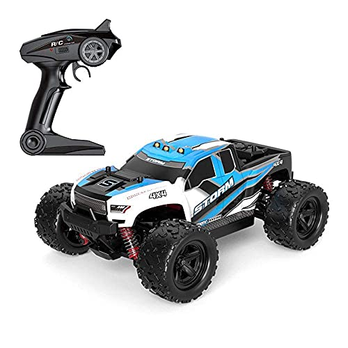 GLXLSBZ 1/18 Scal4WD Off-road Control Remot Coche 2.4G Electric Bigfoot Monster RC Truck 30 KM/H Alta velocidad Drift RC Vehículo Recargable Cli