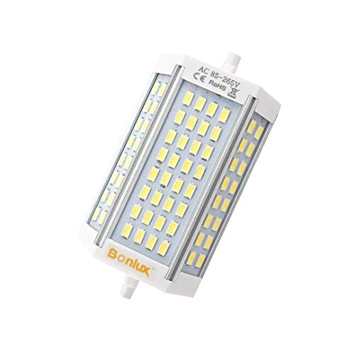 Bonlux 30W R7S J118 Dimmable Double Ended J Type LED Light Bulb R7S LED Floodlight 200W Halogen Replacement Lamp (Daylight 6000K, Pack of 2)