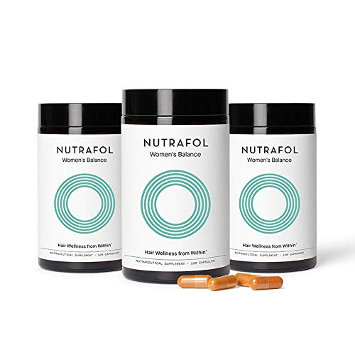 Nutrafol Womens Balance Hair Growth Supplement for Thicker, Stronger Hair Through Menopause (4 Capsules Per Day - 3 Bottles - 3 Month Supply)